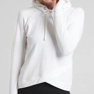 White Pinnacle Criss Cross Hoodie